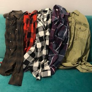 FLANNEL LOT 4 shirts!!!